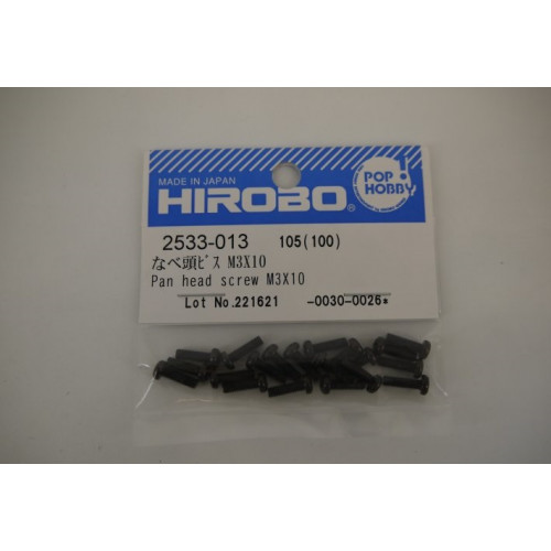 HIROBO 2533-013 PAN HEAD SCREW M3X10