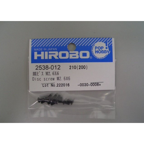 HIROBO 2538-012 DISK SCREW M2.6X6