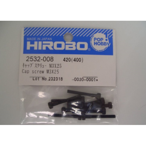 HIROBO 2532-008 CAP SCREW M3X25