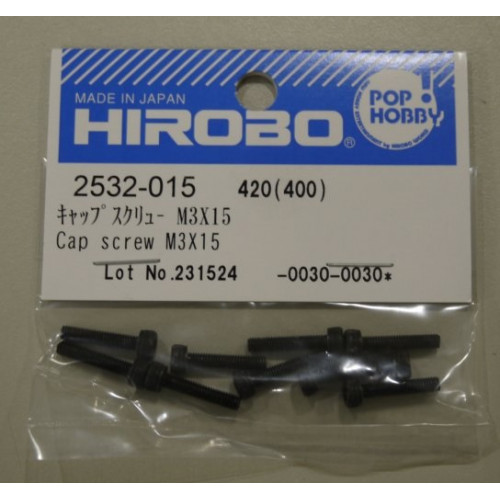 HIROBO 2532-015 CAP SCREW M3X15